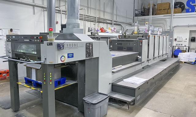 2009 Komori LS529+CX for sale Trinity Printing Machinery